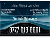 Mileage correction Service 24-7 Mobile Service Vehicle Recovery