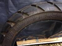 Metzeler Tourance rear tyre for BMW R1150 gs