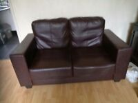Leather look sofa PRICE REDUCED