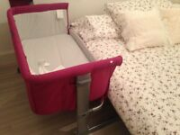 Pink Chicco next to me crib. NEW NEVER USED