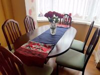 Extending Dining Table and Chairs, Morris of Glasgow