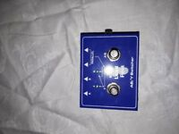 guitar effects pedals - compressor, rotary, AB Y switch