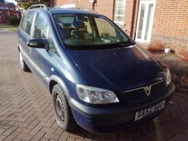 Vauxall Zafira for Sale, 2002, 1.8, Good reliable runner.