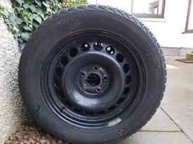 Audi Winter tyres on Steel rims