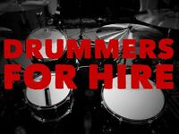 Drummers Available For Last Minute One Off Gigs, Tours, Recording, Video Promos etc.