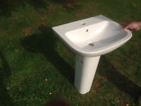 New VitrA Sink Basin with Pedestal and Accessories