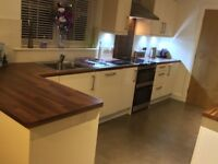 Cream high gloss kitchen plus appliances