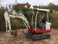 Mini digger hire Bristol Dumper hire £50