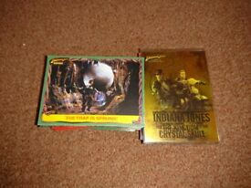Indiana Jones Heritage & Crystal Skull complete trading card sets
