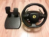 Thrustmaster Ferrari 458 racing steering wheel and pedals for Xbox 360
