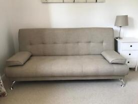 HOME Sicily Clic Clac Sofa Bed in Natural.