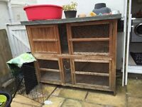 Large Rabbit hutch FREE TO COLLECTOR