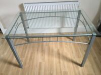 GLASS DINING TABLE- EXCELLENT CONDITION