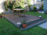 FREE TIMBER DECKING 5m x 3m to be DISMANTLED and REMOVED