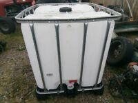 IBC 1000 litres storage tank container. Water Oil Diesel Heating oil