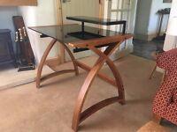 Wood & Glass Desk
