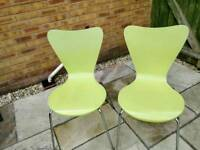 4 x Green kitchen chairs from Next