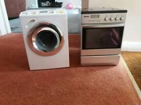 Children's miele washing machine and cooker.