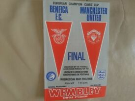 Manchester Utd v Benefica, 1968 European Cup Final