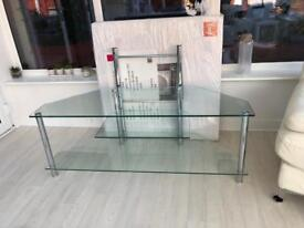 FREE TV Stand Similar to pic Wide glass shelves and brackets to affix TV or use For Box /DVD FREE