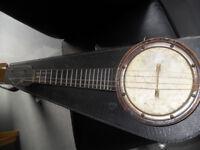 antique banjo