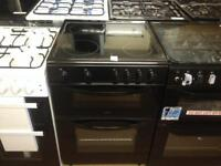 Black 600 wide electric cooker