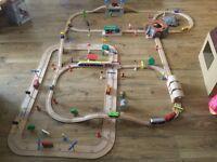 Large wooden train set