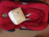 Used red maxi cosi car seat