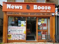 Full new decorated off licence nice location good potential new shutters and frigdes opened year ago