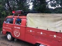 VW pickup Double cab, camper