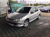 206 PEUGEOT 206 low mileage 60000 from new nice clean car tinted windows unmarked interior alloys