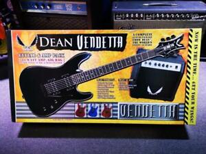 ELECTRIC GUITAR + AMP Dean Vnxmt Mbk Pk Metallic Black with Accessories
