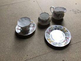 Royal Minster (Sheringham pattern) 21 piece fine china tea set