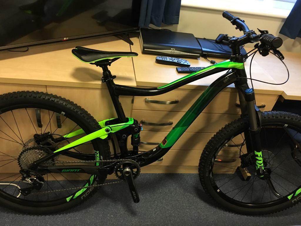 Giant - full suspension mountain bike large frame
