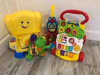Vtech and fisher price chair toys walker bundle toddlers
