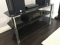Stunning 3 Tier Black Glass TV Stand – AS NEW!!!