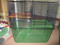 1 gerbilarium (gerbil cage) and 2 small hamster cages.