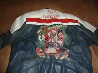1980's wolf leather motorbike jacket