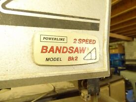 Powerline 2 speed Bandsaw Model BK2