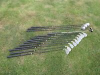 Full golf set with just about everything you will need. Clubs trolley bag balls irons etc etc