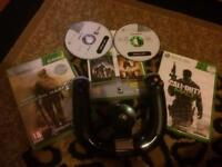 *OPEN TO OFFERS*XBOX 360 4 GAMES AND 2 CONTROLLER