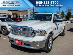 2017 Ram 1500 LARAMIE, 4X4, SUNROOF, REMOTE START, BLUETOOTH, BE