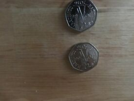 Pair - Battle of Hastings 50p highly sought after collectable coin!