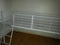 Lucas Single Midsleeper Bed Frame - White