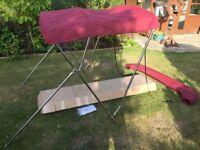 New Boat Bimini Canopy - Stainless Steel - Sun Shade