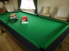 8x4 slate bed free play pool table including extras