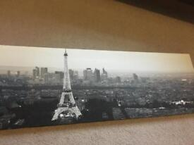 Paris skyline canvas