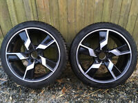 Winter tyres (2) and wheels (4) for Mercedes Benz E350 Sport