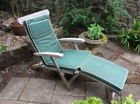 Steamer garden seat with brass fittings and cushions