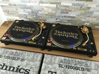 Technics 1200 GLD Pair – Mint Condition – Fully Boxed – Pair – Ortofon Gold - Lids
